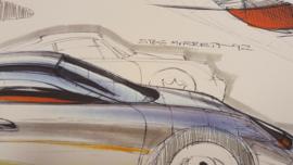 Porsche 911 996 Design study - 59 x 33 cm - Steve Murrett