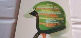 Porsche 1964 BP Dunlop Bosch helmet wall shield - version with misprint