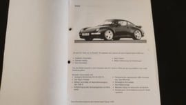 Porsche 911 993 Turbo Service Information Technik - 1996
