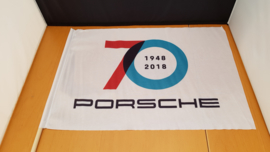 Porsche 70 Years Anniversary fan vlag