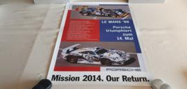 Porsche Le Mans 1996 - Historisches Rennplakat