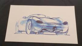 Porsche 986 Boxster Conceptcar - 59 x 33 cm - Grant Larson