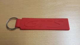 Porsche Keychain GTS-Red rubber