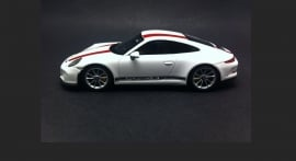 Porsche 911 (991.2) R White wit red striping