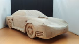 Porsche 959 - massief houten model