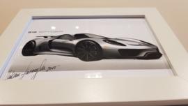 Porsche 918 Spyder Designskizze - Hakan Saracoglu  2012