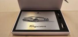 Porsche Taycan Design croquis - boîte-cadeau