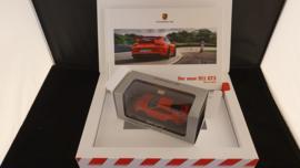 Porsche 911 991.2 GT3 promotion box with scale model WAP0201490H
