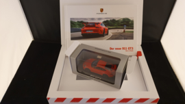 Porsche 911 991.2 GT3 Promotion Box mit Maßstab Modell WAP0201490H