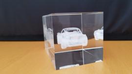 Porsche 911 993 Turbo  - 3D crystal glass