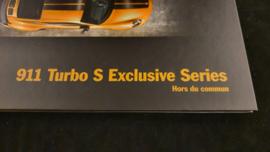 Porsche 911 Turbo S Exclusive Series hardcover VIP brochure 2018 - FR