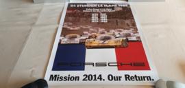 Porsche Le Mans 1985 - Historisches Rennplakat