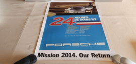 Porsche Le Mans 1987 - Historisches Rennplakat