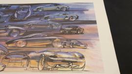 Porsche 986 Boxster Design study Collage - 59 x 33 cm - Grant Larson