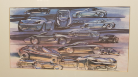 Porsche 986 Boxster collage - framed