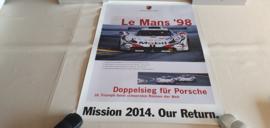 Porsche Le Mans 1998 - Historische race poster