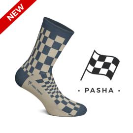 Porsche Pasha Navy blau - HEEL TREAD Socken