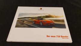 Porsche hardcover brochure 718 Boxster 2016 - DE