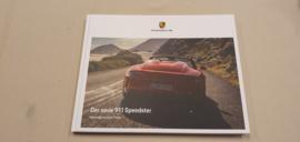 Porsche 911 991 Speedster Hardcover brochure 2019- German