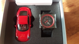 911 Turbo S Classic Chronograph with model car 1:43