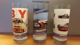 Porsche Set Long Drink Gläser Martini Racing