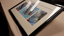 Porsche 996 Carrera drawing - framed