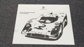 Porsche bloc de papier