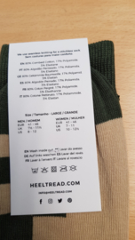 Porsche Pasha olive/tan - HEEL TREAD Socks