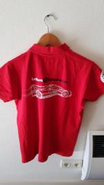 Porsche fel rode Poloshirt Zuffenhausen Porsche Museum - Le Mans