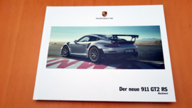 Porsche 911 991.2 GT2 RS hardcover brochure 2017
