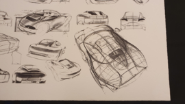 Porsche 911 996 Design study - 60 x 46 cm - Limited edition WAP09220197