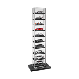Porsche display case for scale 1:43 model cars (10 cars)