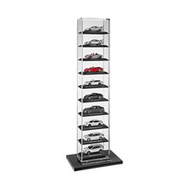 Porsche vitrine voor schaal 1:43 modelauto's (10 stuks)
