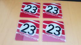 Glass coasters Porsche 917 Salzburg Porsche Design