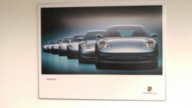 Porsche 911 generaties poster ingelijst