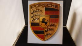 Porsche Logo megasticker 3-D 38 x 30cm