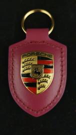 Porsche porte-clés avec emblème Porsche - Rubystone