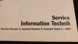 Porsche Boxster Cayman Cayenne Turbo S Service Information Technik - 2007