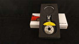 Porsche Porte clés - Disque de frein jaune - MAP04506618