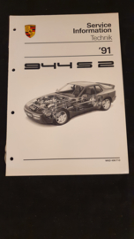 Porsche 944 S2 Service Information Technik - 1991