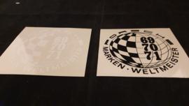 Porsche ensemble d'autocollant de fenêtre - Porsche Marken Weltmeister 1969, 1970, 1971