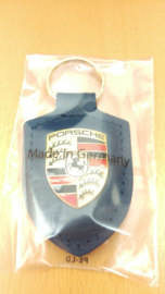 Porsche Porte-clés avec emblème Porsche bleu