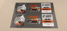 Porsche 718 Boxster sticker sheet - The Legend is back