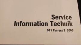 Porsche 911 997 Carrera S Service Information Technik - 2005