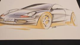 Porsche 911 996 Designstudie - 59 x 33 cm - Matthias Kulla