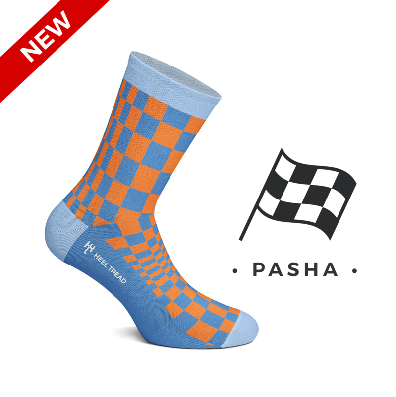 Porsche Pasha Gulf colors - HEEL TREAD Socks