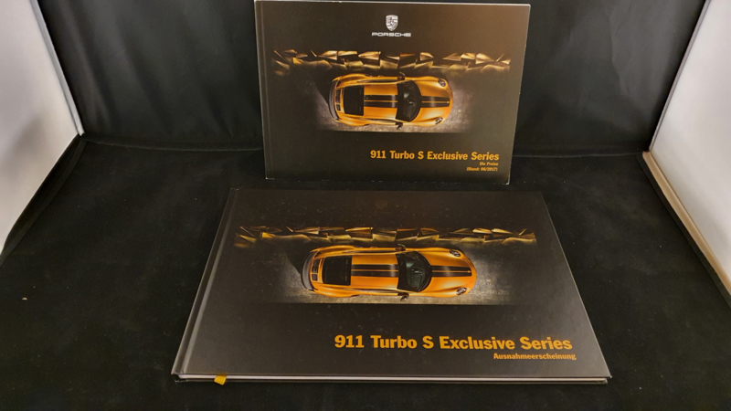 Porsche 911 Turbo S Exclusive Series hardcover VIP brochure 2018 - DE
