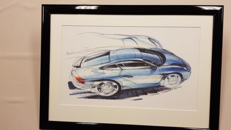 Porsche 996 ontwerp tekening - Steve Murrett 1992