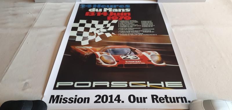 Porsche Le Mans 1970 - Historical race poster