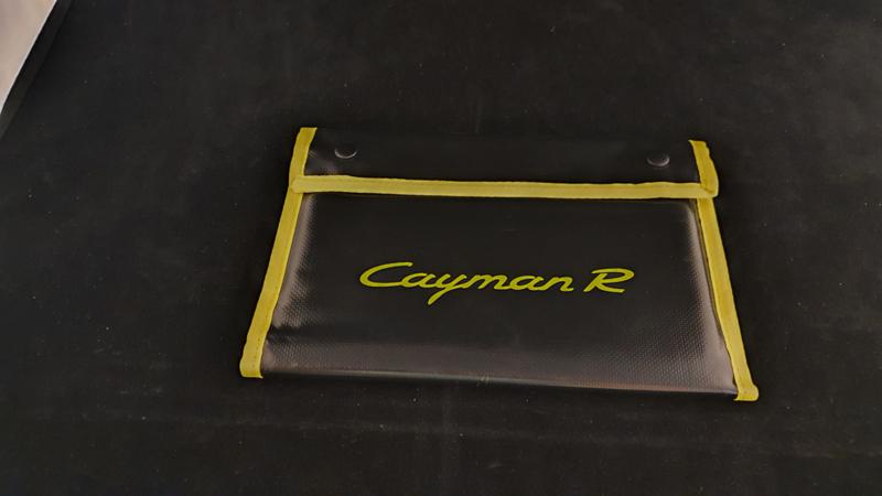Porsche Cayman R hardcover brochure in VIP map - 2010